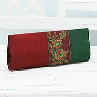 Crimson and Emerald Handbag