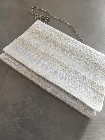 Ivory Clutch with Chain Strap