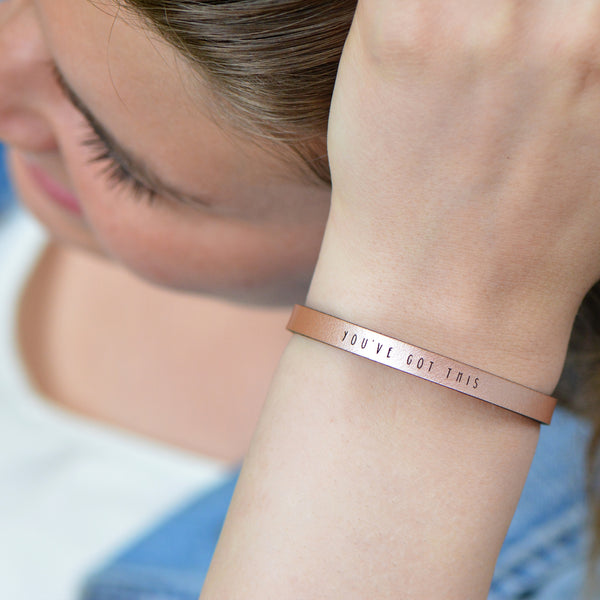 You've Got This Leather Cuff Bracelet