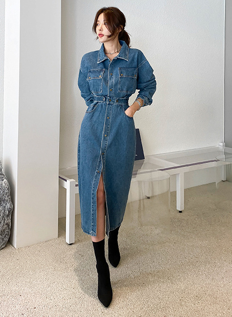 Janis Denim Dress