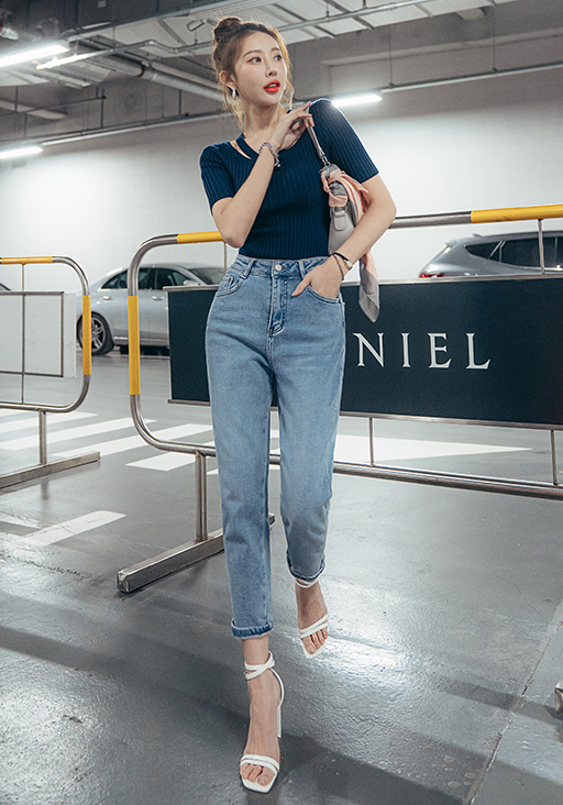 Avena Denim Pants - One Chic Store