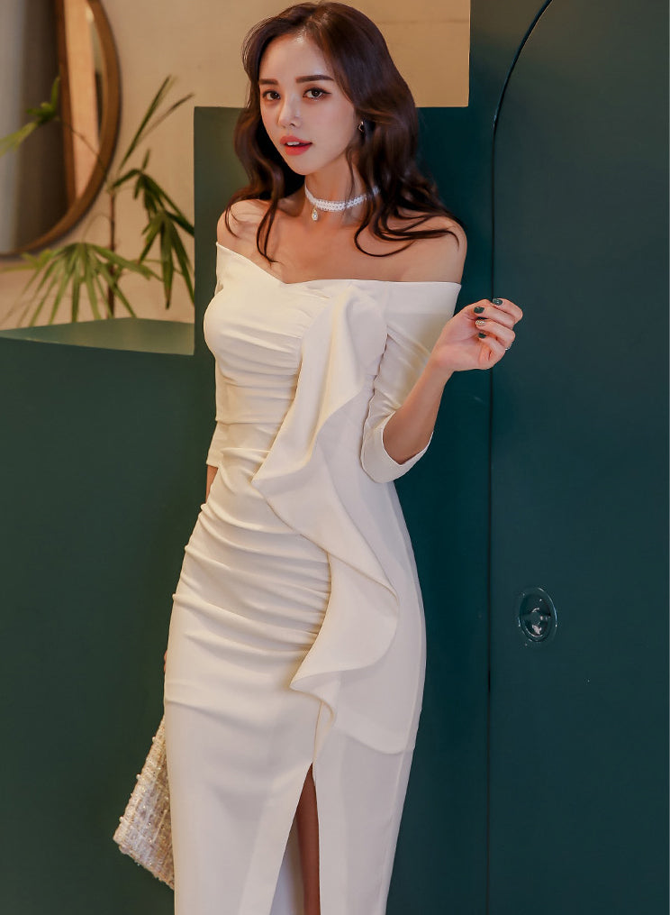 Moris White Dress