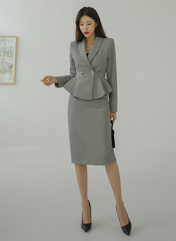 Jas Outerwear and Skirt Set