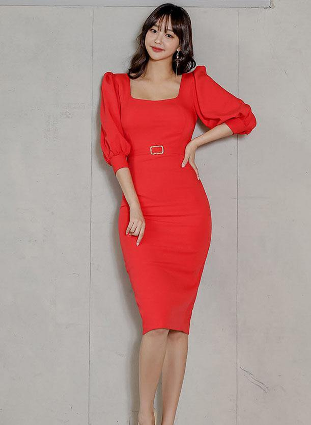 Jam Sleeved Dress