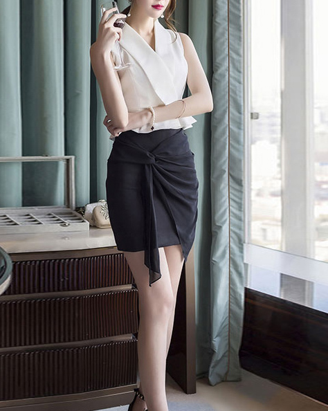 Meno Black Skirt - One Chic Store