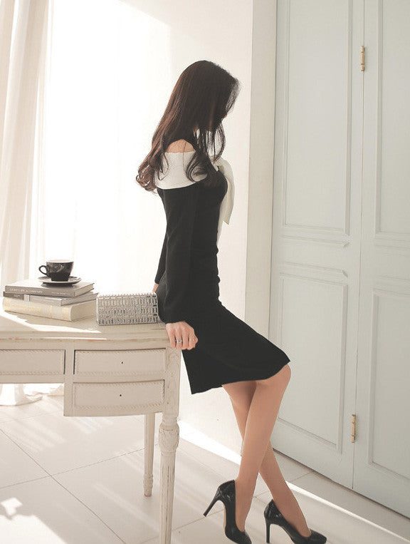 Marina Black Bow Dress - One Chic Store