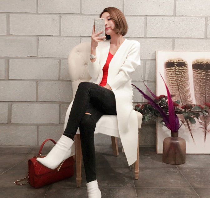 Lerone White Coat - One Chic Store