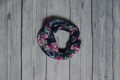 Drool Cowls - Teal Floral