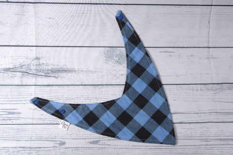 Bandana Bib - Blue Plaid