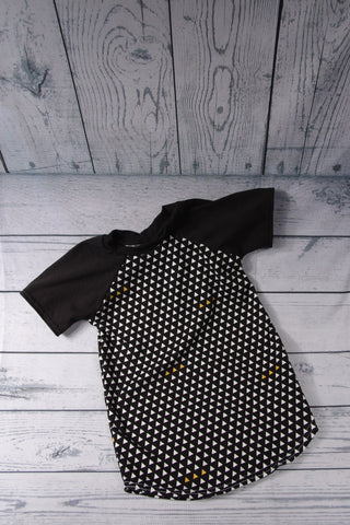 Tunic Dress - Black and White Triangles