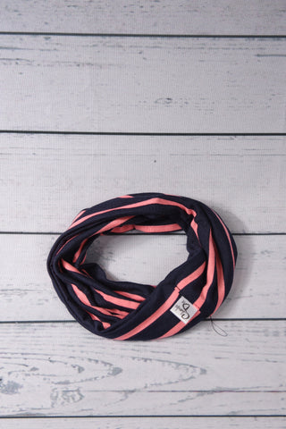 Drool Cowls - Navy and Coral Stripe