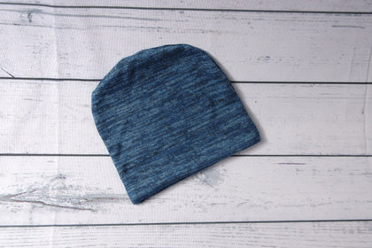 Beanie - Blue Heather 0-6m