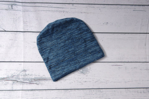 Beanie - Blue Heather Child-Adult