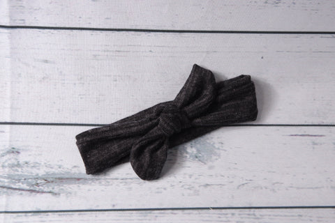 Top Knot - Black Heather