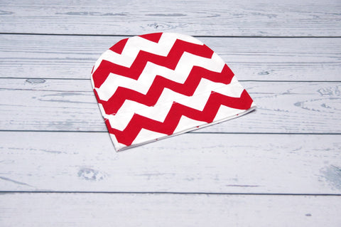 Beanie - Red Chevron child-adult