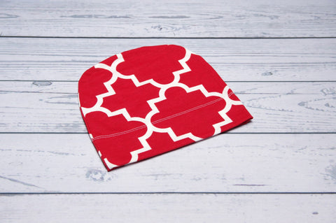 Beanie - Red Quatrafoil Child-adult