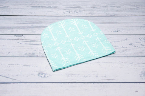 Beanie - Mint Arrows 0-6m