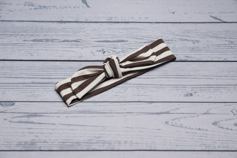 Top Knot - Brown Stripe