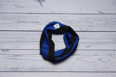 Drool Cowls - Blue and Black Stripe