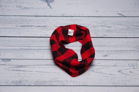 Drool Cowls - Red Plaid