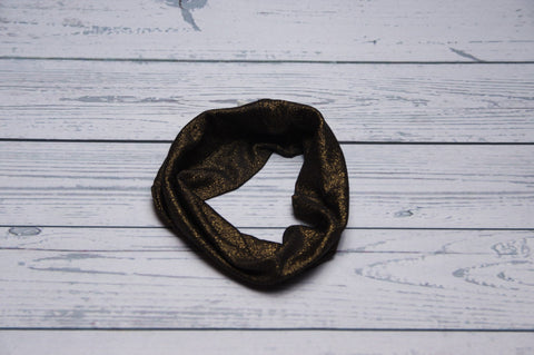 Drool Cowls - Black and Gold Glitter