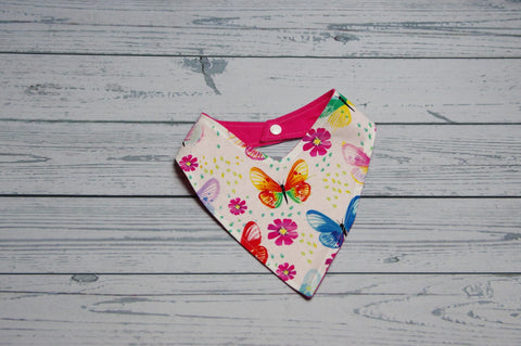 Bandana Bib - Butterfly {Slightly flawed}