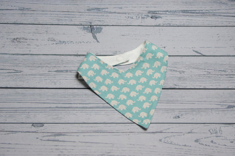 Bandana Bib - Blue Elephants