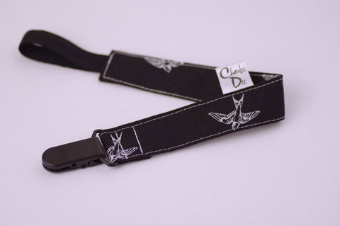 Soother Strap - B/W Birds