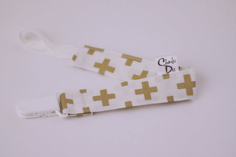 Soother Strap - Gold +
