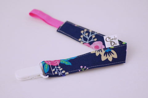 Soother Strap - Navy Floral