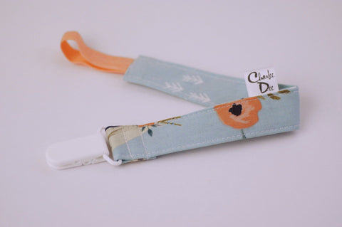 Soother Strap - Mint Teepee