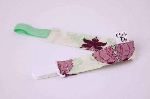 Soother Strap - Purple Floral