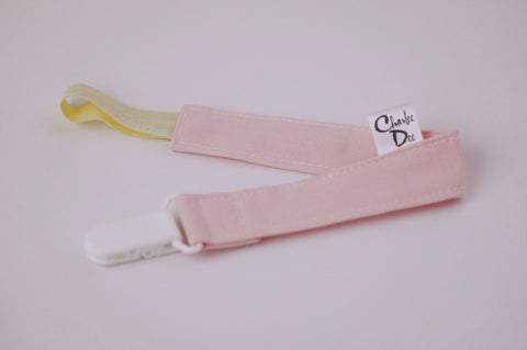 Soother Strap - Light Pink