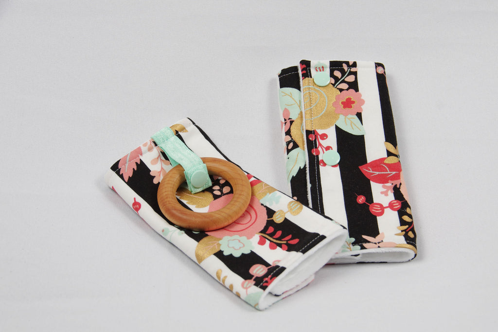 Carrier Strap Covers Striped Floral