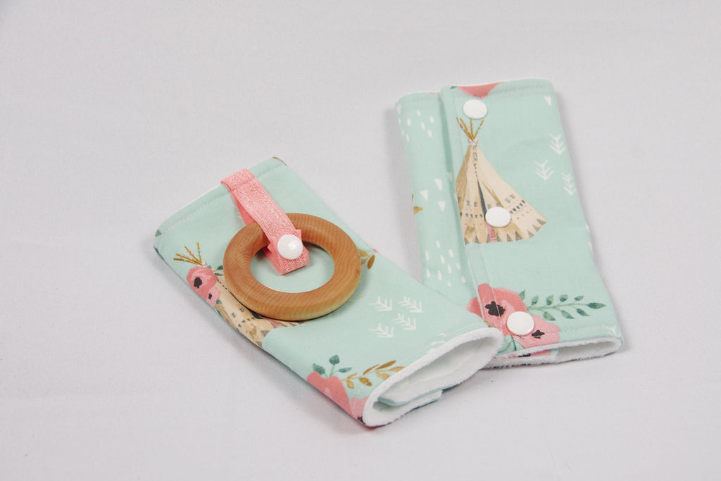 Carrier Strap Covers Mint Teepee