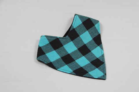 Bandana Bib - Teal Plaid