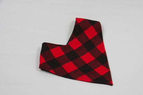 Bandana Bib - Red Plaid