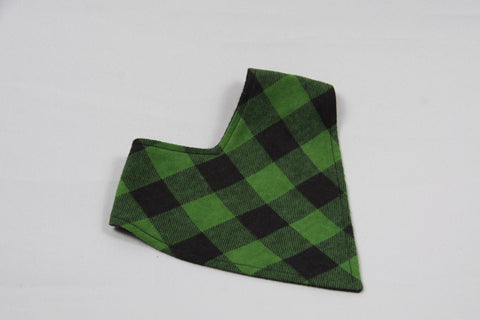 Bandana Bib - Green Plaid