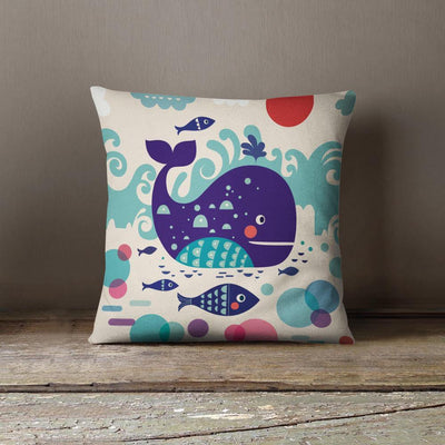Whale Nursery Pillow-W.FRANCIS