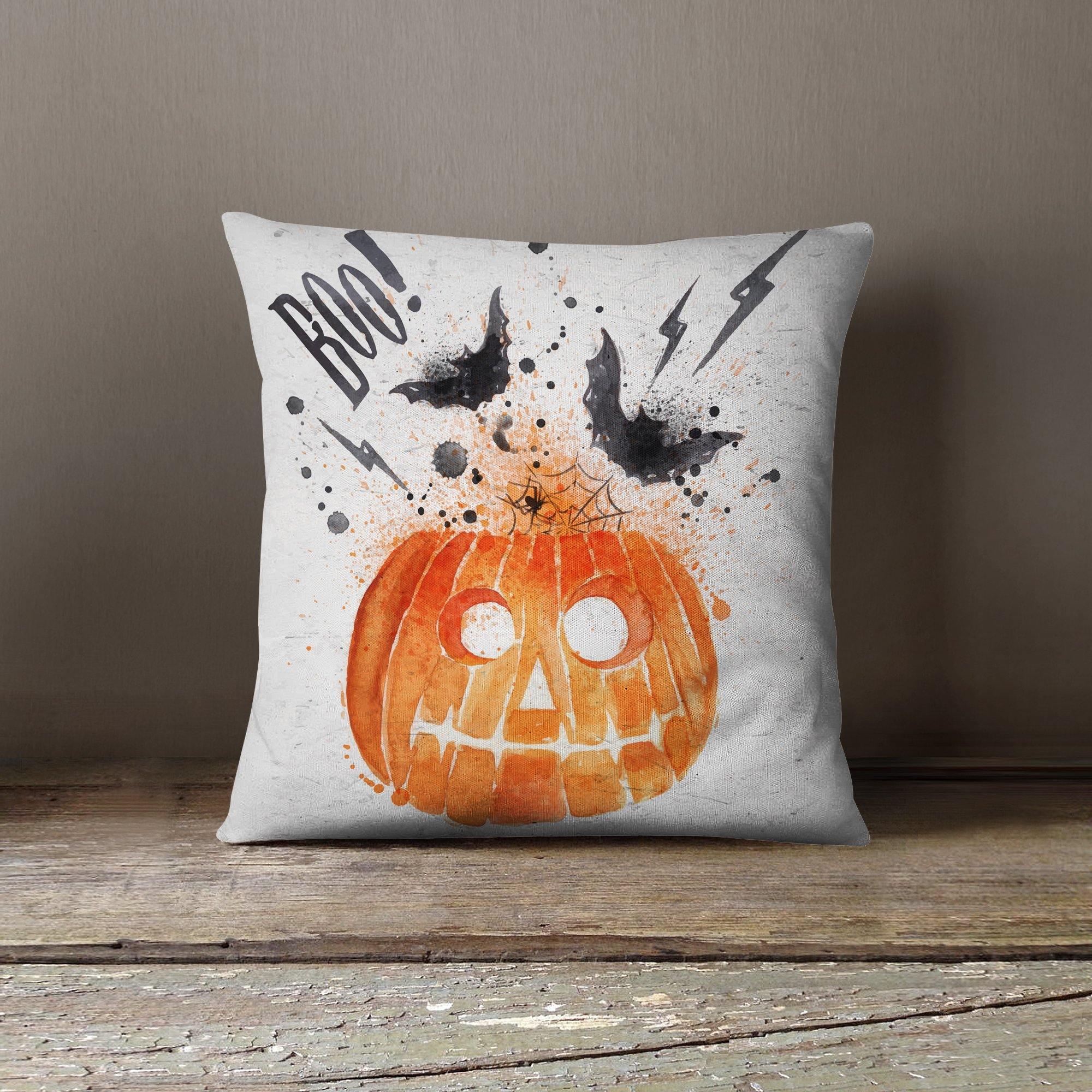 Halloween Pumpkin Throw Pillow-W.FRANCIS