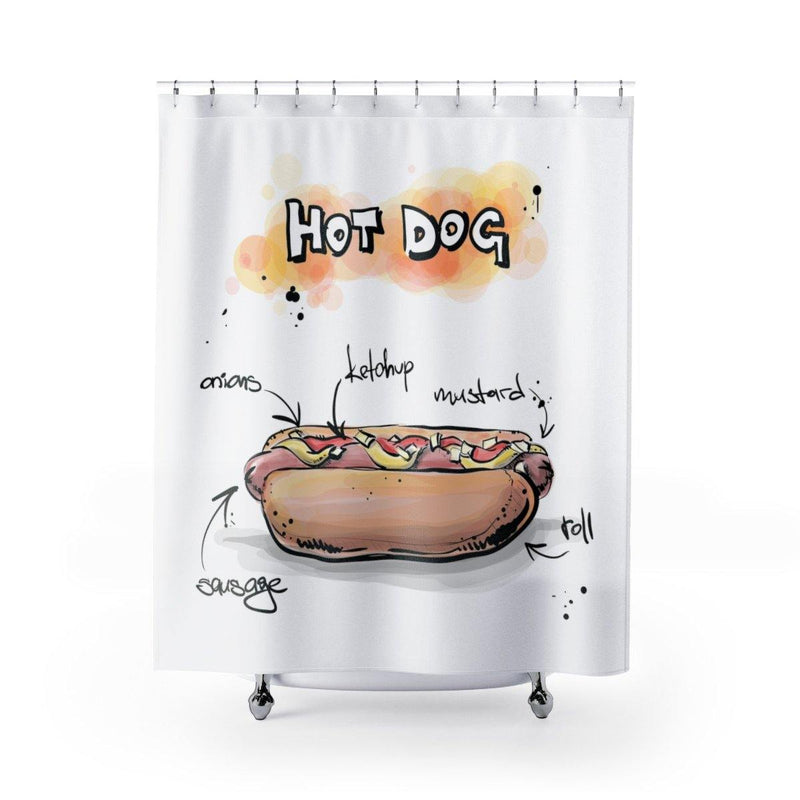 Hot Dog Shower Curtain