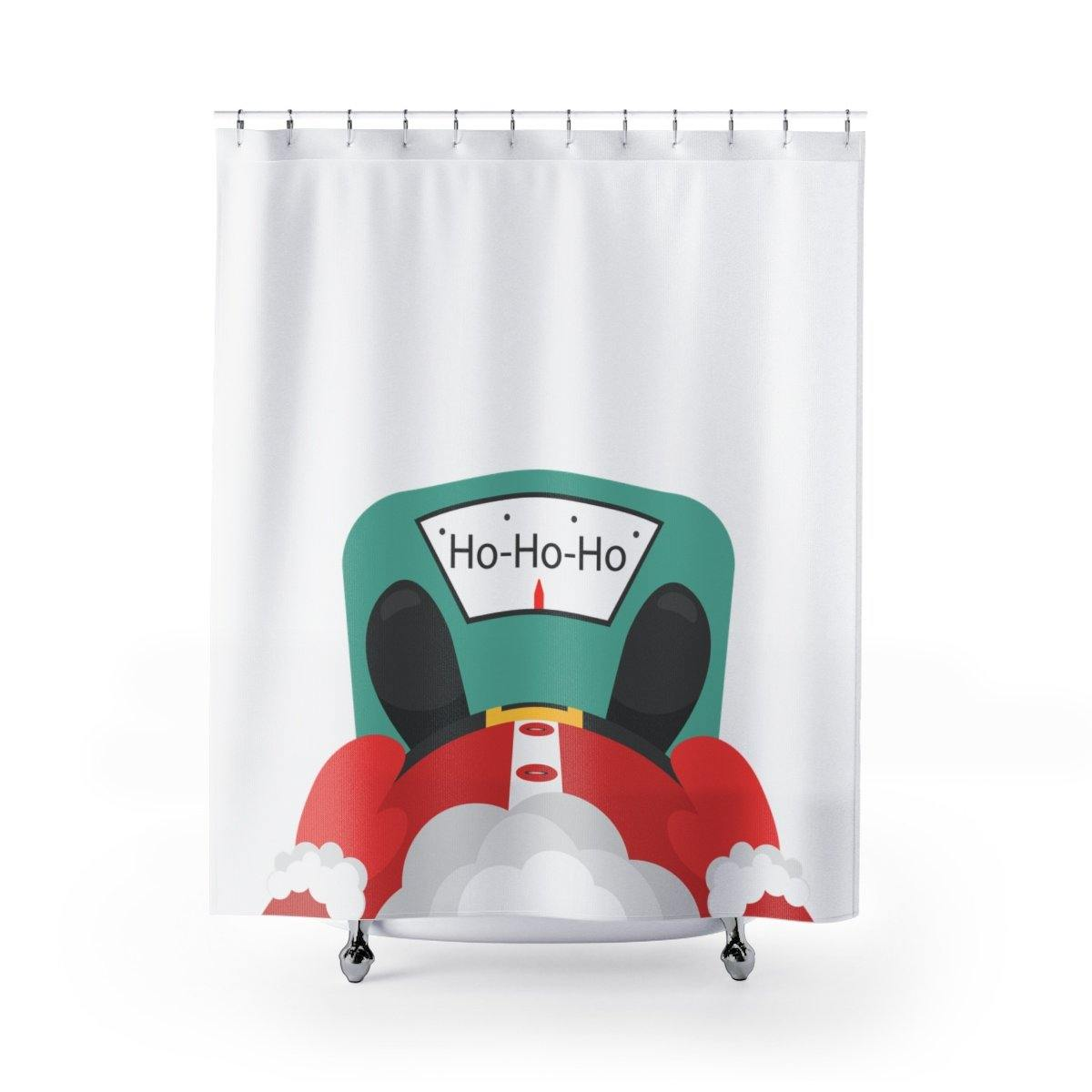 Funny Santa Christmas Shower Curtain