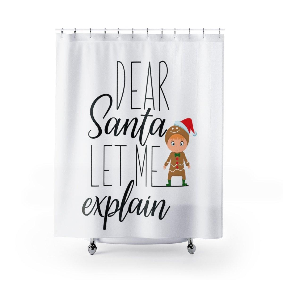 Let Me Explain Christmas Shower Curtain