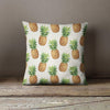 British Colonial Pineapple Throw Pillow-W.FRANCIS