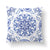 White & Blue Throw Pillow-W.FRANCIS