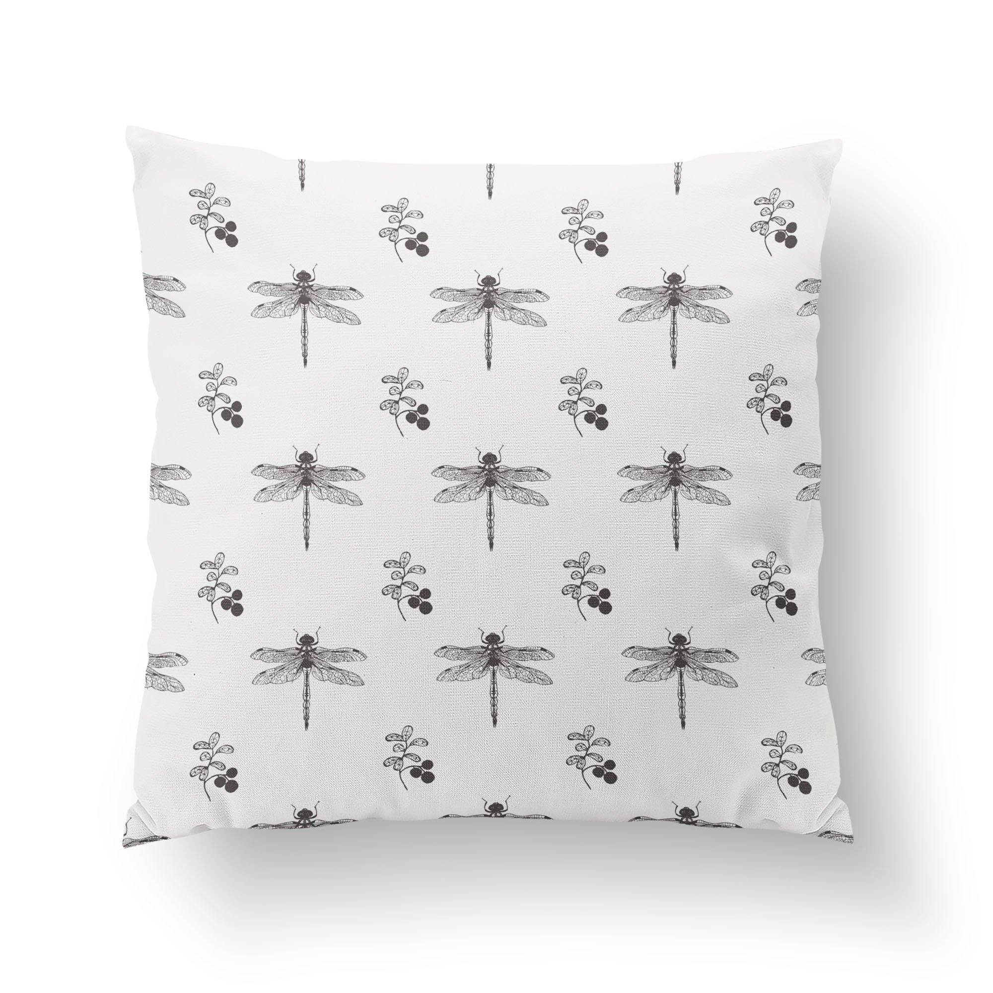 Dragonfly Throw Pillow-W.FRANCIS