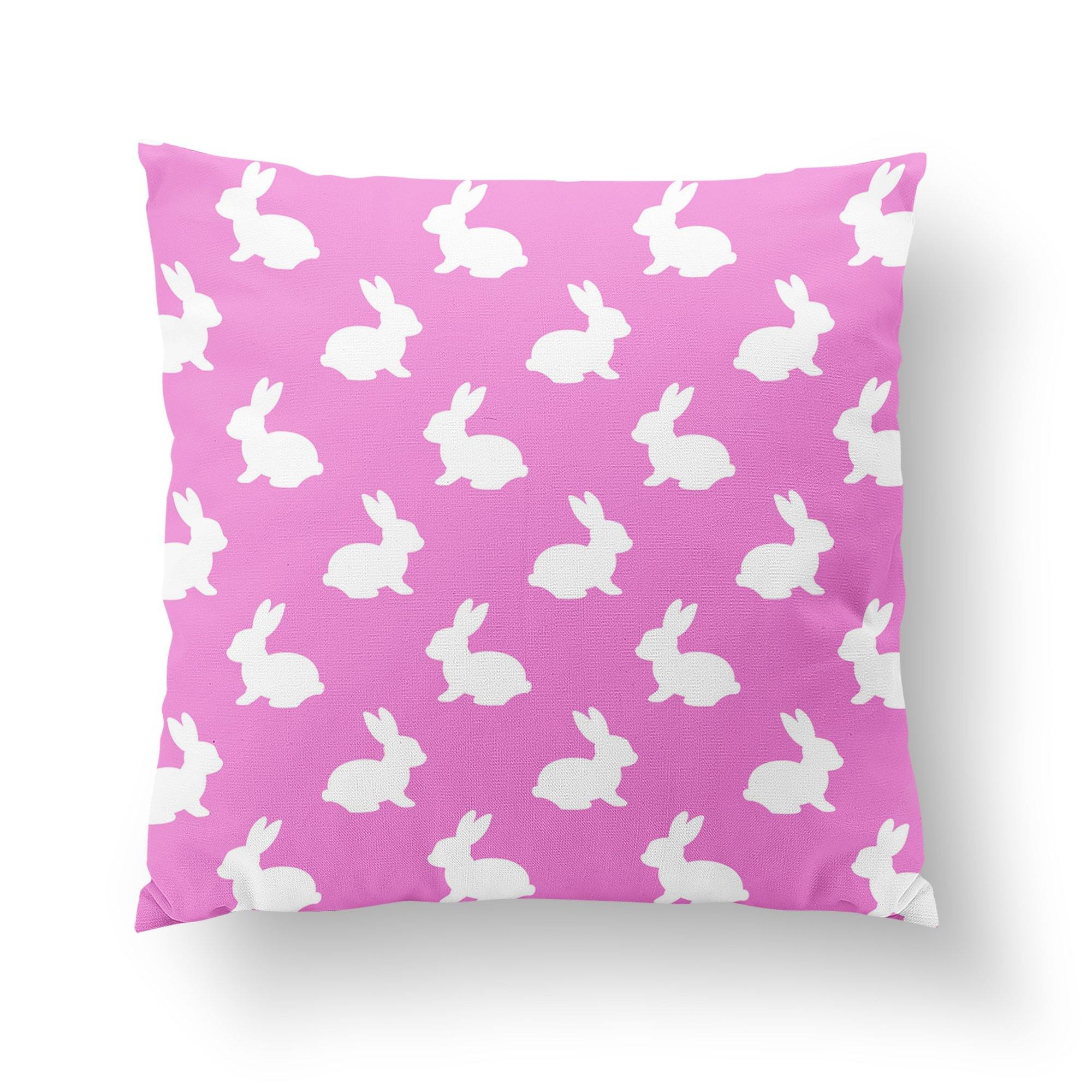 Pink Easter Throw Pillow-W.FRANCIS