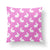 Pink Easter Throw Pillow