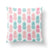 Pink & Aqua Decorative Pillow-W.FRANCIS