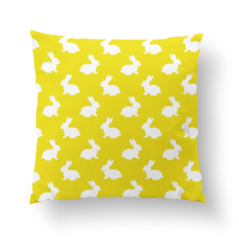 Yellow Easter Throw Pillow-W.FRANCIS